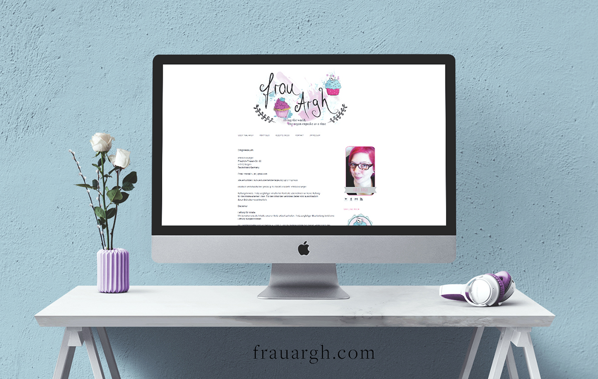 Frau Argh Blog Design