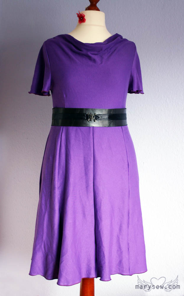 MarySew » My Purple Party Dress