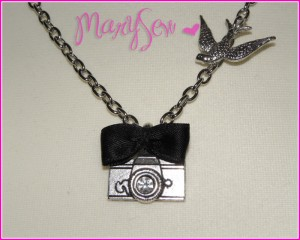 macke a romantic necklace camera bird DIY